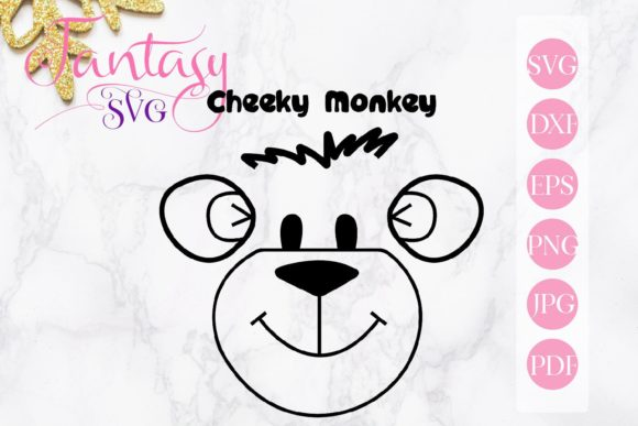 Print on Demand: Cheeky Monkey Svg Graphic Crafts By Fantasy SVG