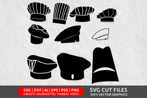 Download Free Chef Hat Graphic By Design Palace Creative Fabrica for Cricut Explore, Silhouette and other cutting machines.