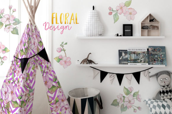 Download Free Cherry Blossoms Watercolor Designs Grafico Por Mystocks for Cricut Explore, Silhouette and other cutting machines.