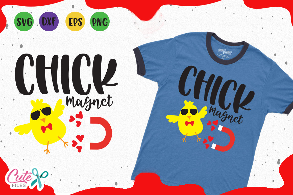 Download Free Chick Magnet For Crafter Graphic By Cute Files Creative Fabrica for Cricut Explore, Silhouette and other cutting machines.