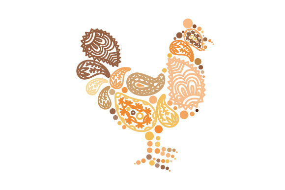 Chicken Made out of Paisly Patterns Paisley Craft Cut File By Creative Fabrica Crafts