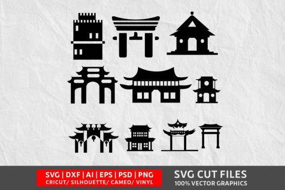 Download Free Chinese Gate Graphic By Design Palace Creative Fabrica for Cricut Explore, Silhouette and other cutting machines.