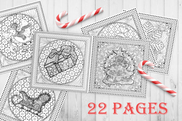 Christmas Adult Coloring Book Graphic Coloring Pages & Books Adults By ilonitta.r - Image 2
