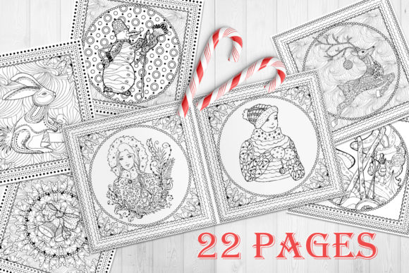 Christmas Adult Coloring Book Graphic Coloring Pages & Books Adults By ilonitta.r - Image 3