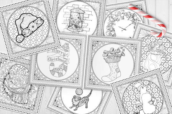 Christmas Adult Coloring Book Graphic Coloring Pages & Books Adults By ilonitta.r - Image 4