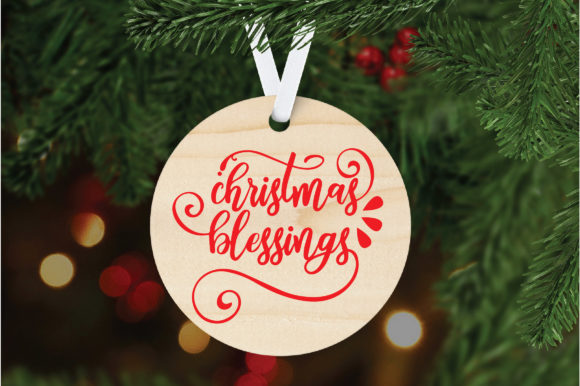 Download Free Christmas Blessings Graphic By Oldmarketdesigns Creative Fabrica for Cricut Explore, Silhouette and other cutting machines.