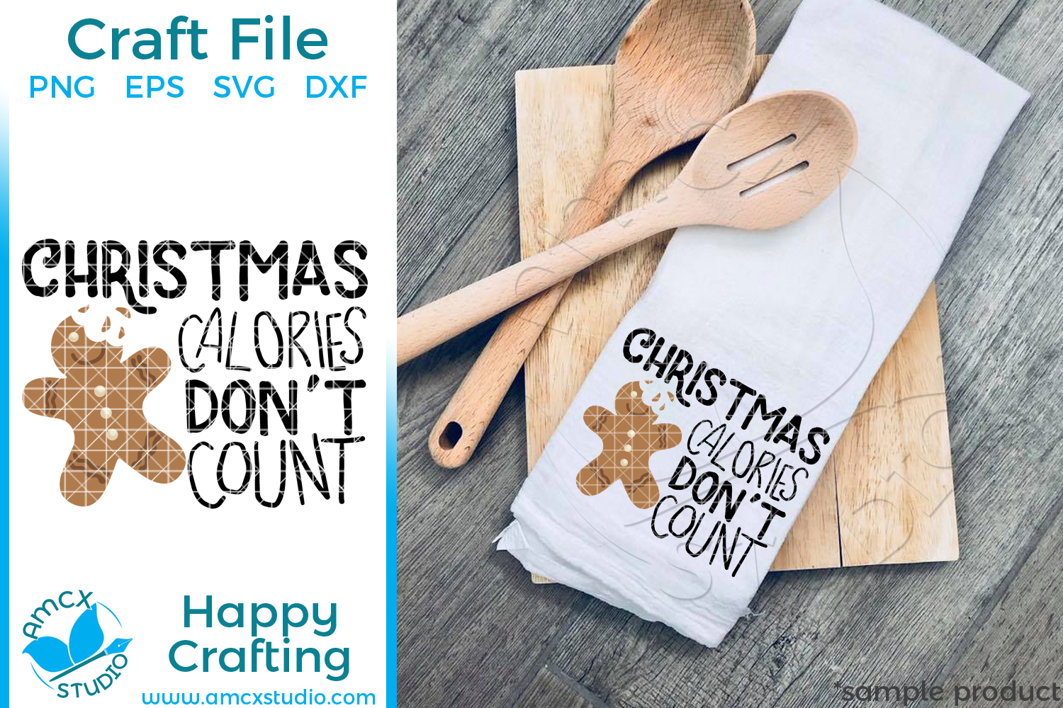 Download Free Christmas Calories Don T Count Graphic By Svg By Amcx Studio for Cricut Explore, Silhouette and other cutting machines.