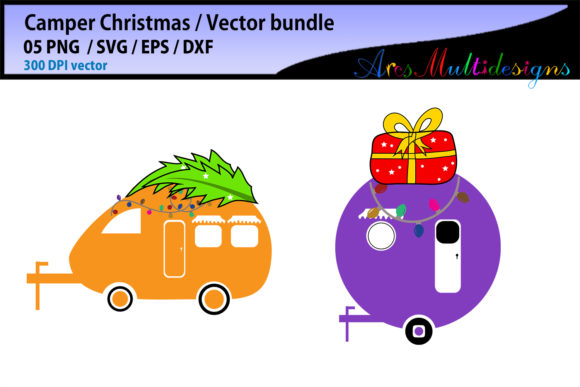 Christmas Camper Graphic By Arcs Multidesigns Creative Fabrica
