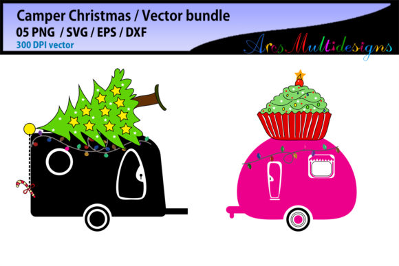 Christmas Camper SVG Graphic By Arcs Multidesigns Image 3