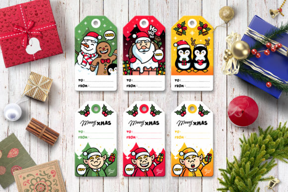 Download Free Christmas Character Bundle Graphic By Abcdanu Real Creative SVG Cut Files