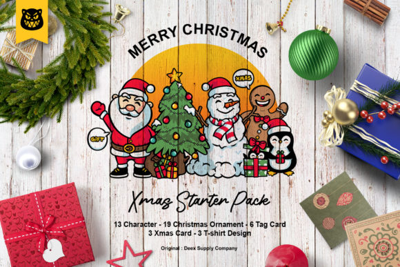 Download Free Christmas Character Bundle Graphic By Abcdanu Real Creative for Cricut Explore, Silhouette and other cutting machines.