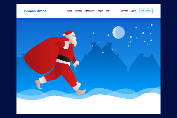 Christmas Concept of Header Web Design for Landing Page Graphic Websites By MrBrahmana