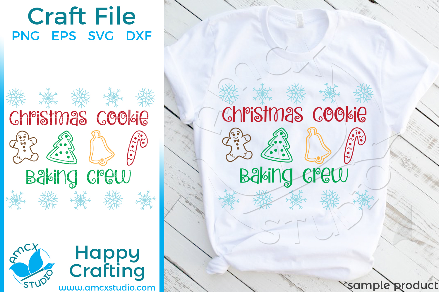 Download Free Christmas Cookie Baking Crew Svg Graphic By Svg By Amcx Studio for Cricut Explore, Silhouette and other cutting machines.