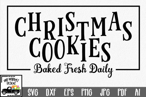 Christmas Cookies SVG Graphic Crafts By oldmarketdesigns