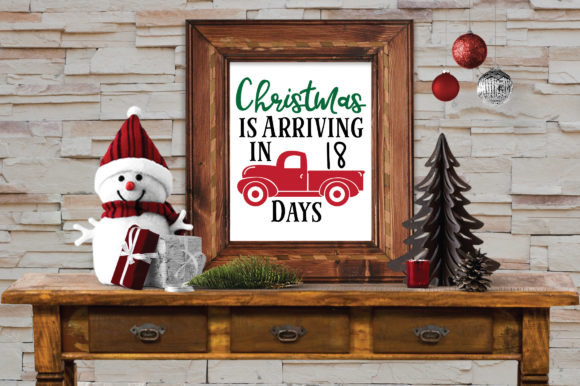 Download Free Christmas Countdown Svg Cut File Christmas Truck Svg Graphic for Cricut Explore, Silhouette and other cutting machines.