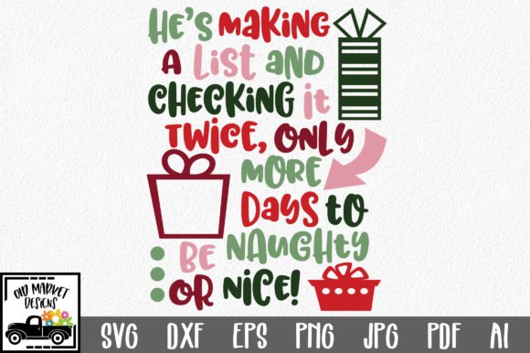 Christmas Countdown SVG Graphic Crafts By oldmarketdesigns