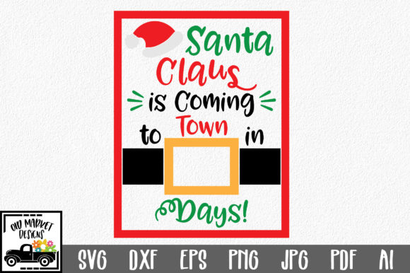 Print on Demand: Christmas Countdown Graphic Crafts By oldmarketdesigns