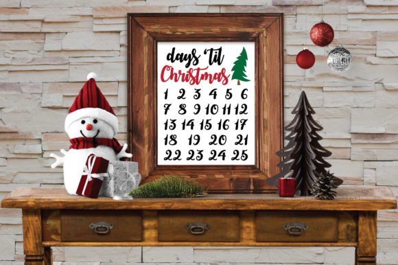 Download Free Christmas Countdown Svg Graphic By Oldmarketdesigns Creative for Cricut Explore, Silhouette and other cutting machines.