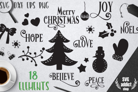 Christmas Elements SVG Pack Graphic By SVG Addict Shop