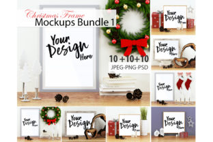 Print on Demand: Christmas Frame Mockup Bundle Volume 01 Graphic Product Mockups By 3Motional