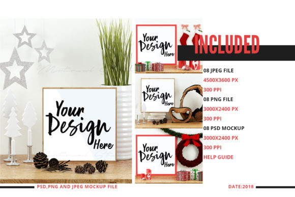 Download Free Christmas Frame Mockup Bundle Graphic By 3motional Creative for Cricut Explore, Silhouette and other cutting machines.