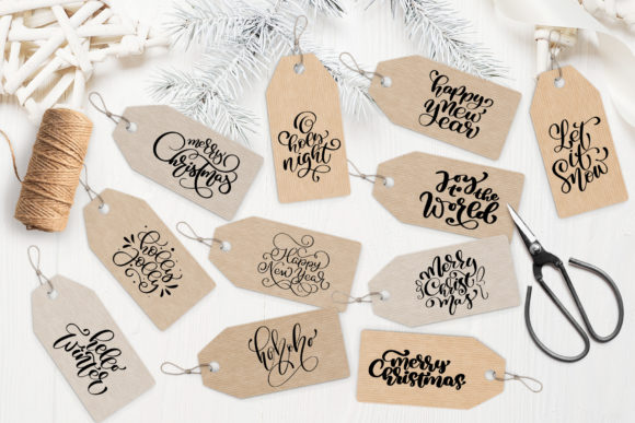 Christmas Gift Tags Graphic Objects By Happy Letters - Image 3