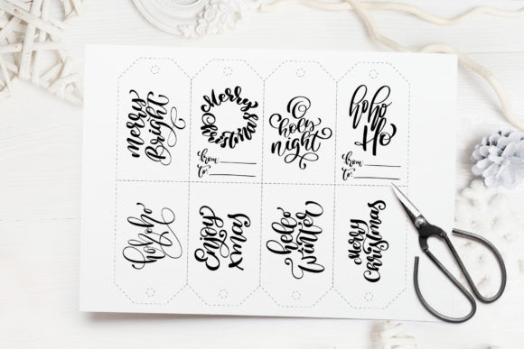 Christmas Gift Tags Graphic Objects By Happy Letters - Image 5