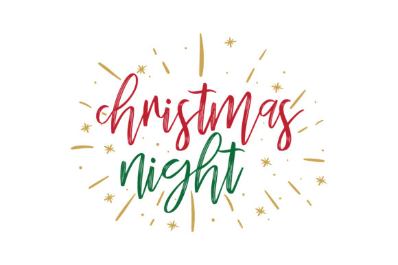 Download Free Christmas Night Graphic By Thelucky Creative Fabrica for Cricut Explore, Silhouette and other cutting machines.