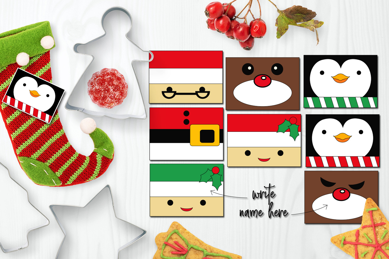 Christmas Party Pictures Clip Art.Christmas Party Name Tags