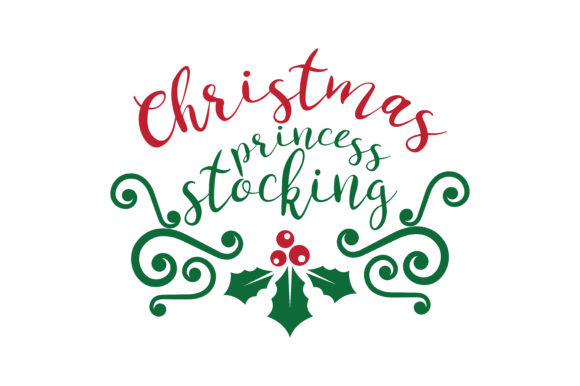 Download Free Christmas Princess Stocking Svg Cut Graphic By Thelucky for Cricut Explore, Silhouette and other cutting machines.