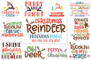 Christmas Reindeer SVG Bundle Graphic By thedesignhippo
