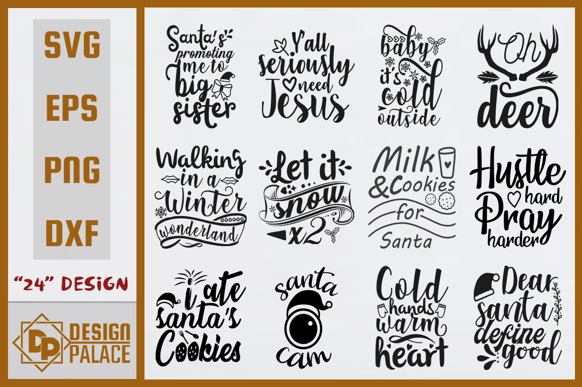 Download Free Christmas Bundle Graphic By Design Palace Creative Fabrica for Cricut Explore, Silhouette and other cutting machines.