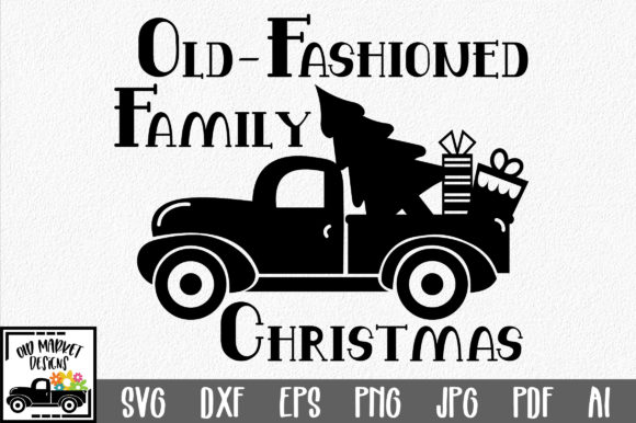 Download Free Christmas Family Christmas Graphic By Oldmarketdesigns for Cricut Explore, Silhouette and other cutting machines.