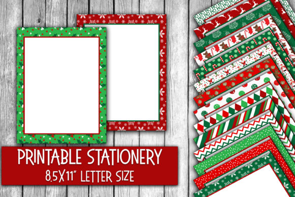 Download Free Christmas Stationery Digital Paper Graphic By Oldmarketdesigns for Cricut Explore, Silhouette and other cutting machines.