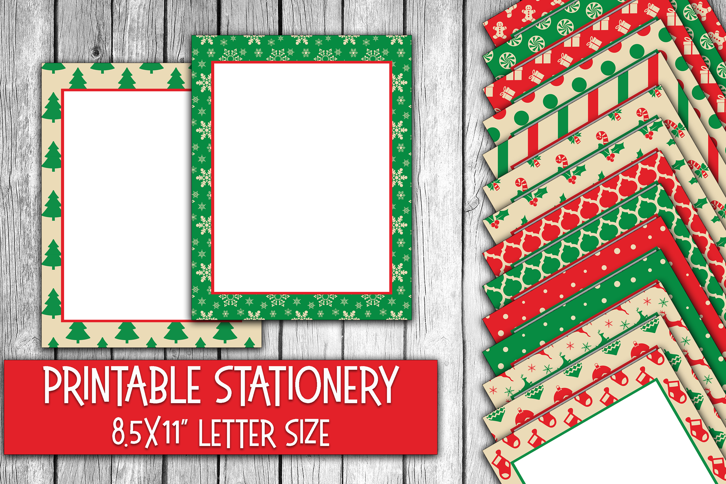 Download Free Christmas Stationery Digital Paper Grafico Por Oldmarketdesigns for Cricut Explore, Silhouette and other cutting machines.