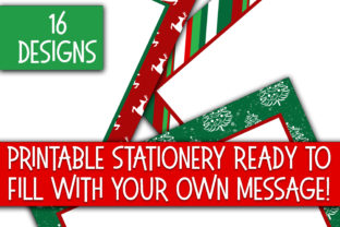 Christmas Stationery Digital Paper Graphic By oldmarketdesigns