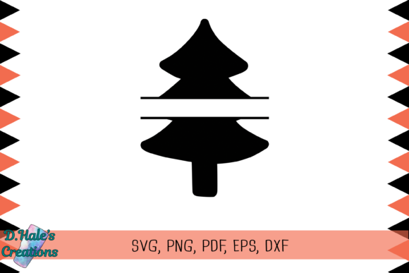Download Free Christmas Tree Split Svg Graphic By D Hale S Creations for Cricut Explore, Silhouette and other cutting machines.
