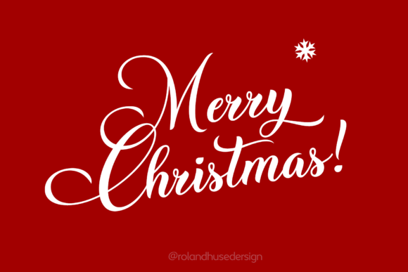 Christmas Wish Font By Roland Hüse Image 2