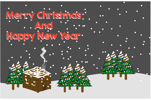 Christmas and New Year Card Graphic Backgrounds By dstudio