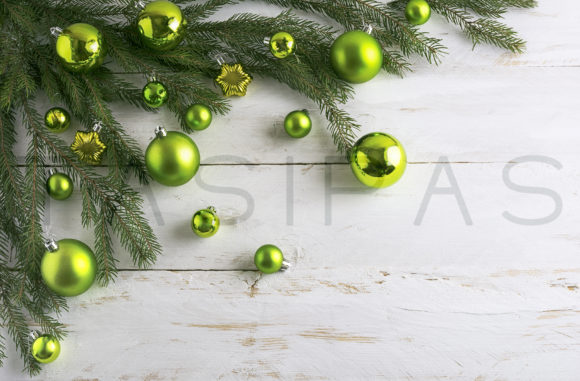 Download Free Christmas Background Decorated With Green Bauble Hanging Graphic SVG Cut Files