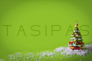Christmas Background with Christmas Tree Ornament Graphic By TasiPas