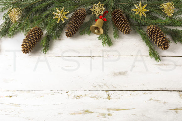 Christmas Background Wooden Jingle Bell Graphic By TasiPas