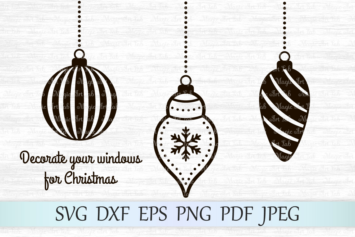 Download Free Christmas Balls Graphic By Magicartlab Creative Fabrica for Cricut Explore, Silhouette and other cutting machines.
