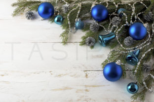Print on Demand: Christmas Blue Balls Decoration Graphic Holidays By TasiPas