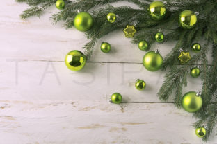 Christmas Green Balls Decoration Graphic By TasiPas