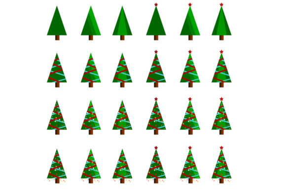 Download Free Christmas Tree Vector Graphic Graphic By Japex Warna Creative for Cricut Explore, Silhouette and other cutting machines.