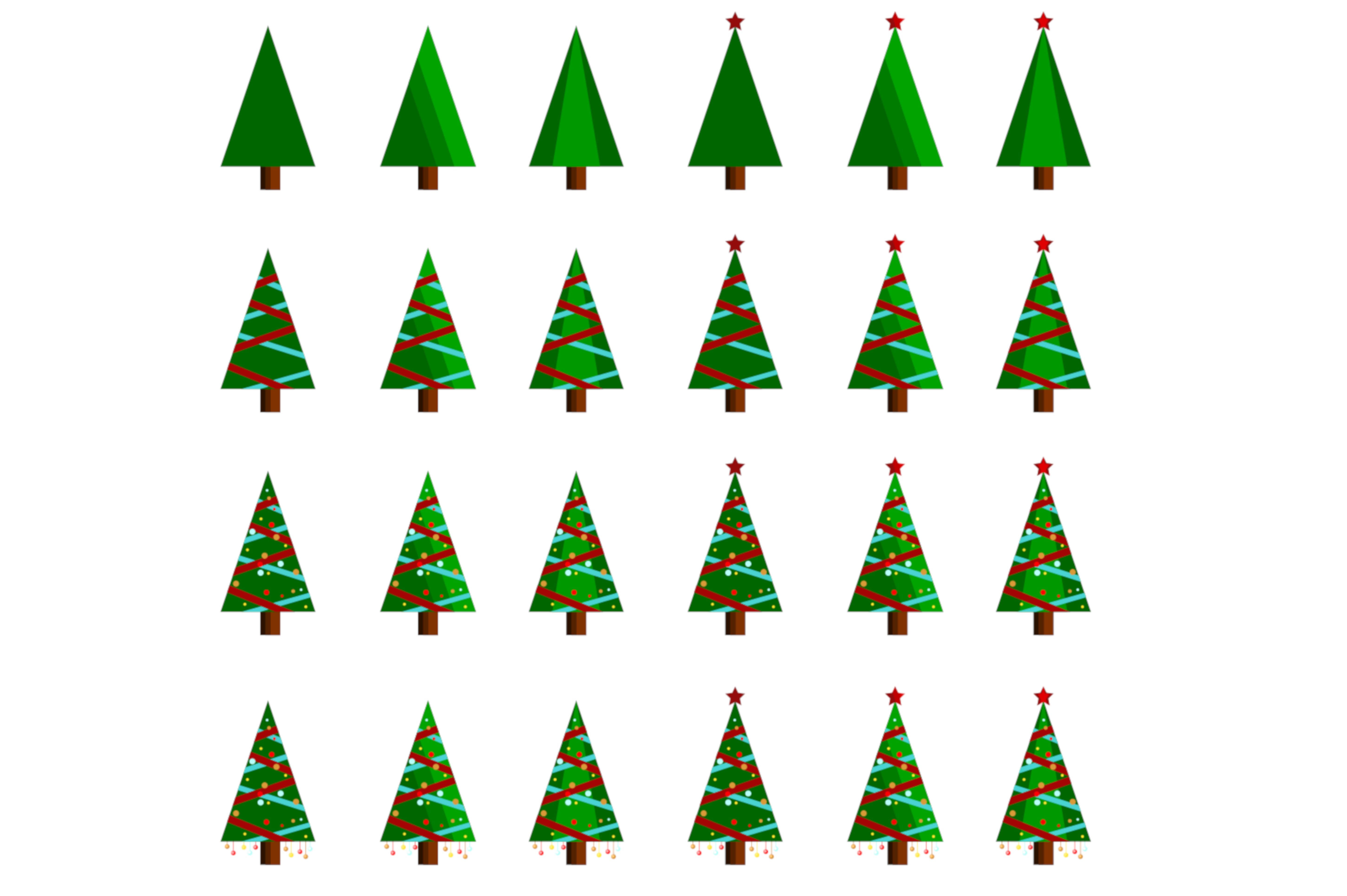 Download Free Christmas Tree Collection Graphic By Japex Warna Creative Fabrica for Cricut Explore, Silhouette and other cutting machines.
