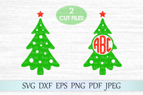 Christmas Tree Monogram Svg Graphic By Magicartlab Creative