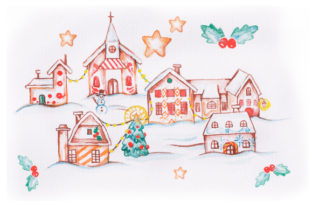 Christmas Village Christmas Craft Cut File By Creative Fabrica Crafts