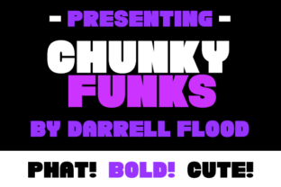 Print on Demand: Chunky Funks Slab Serif Font By Dadiomouse